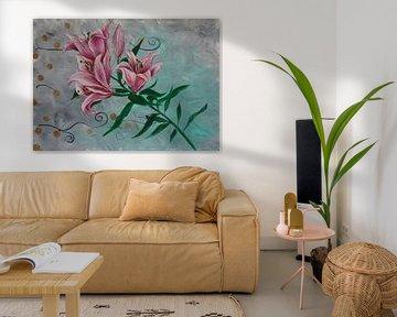 Pink Lilies von sarah Loecker