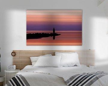 Purple Sunset at the Sea von Aline van Weert
