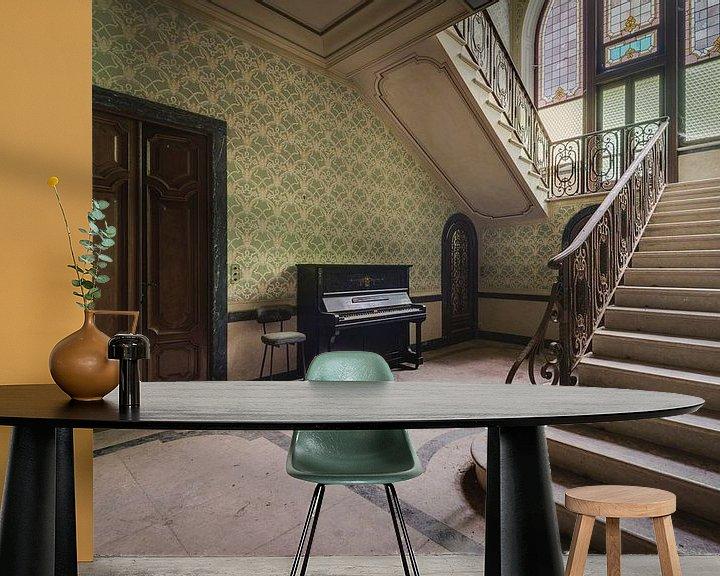 Beispiel fototapete: Treppe mit Klavier von Perry Wiertz
