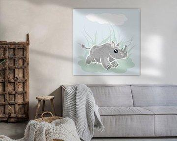 Nashorn im Galopp von Marion Tenbergen