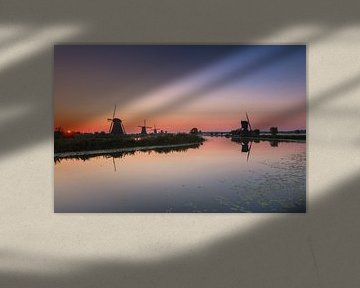 Sunrise in Kinderdijk
