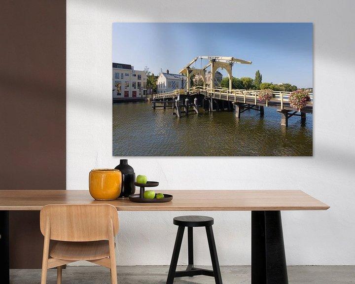 Sfeerimpressie: De Rembrandtbrug in Leiden van Charlene van Koesveld