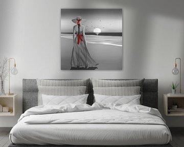 Die Lady am Meer von Monika Jüngling