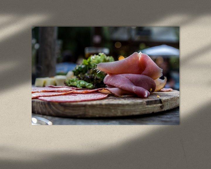 Sfeerimpressie: vleeswaren op een plankje van peter desmet