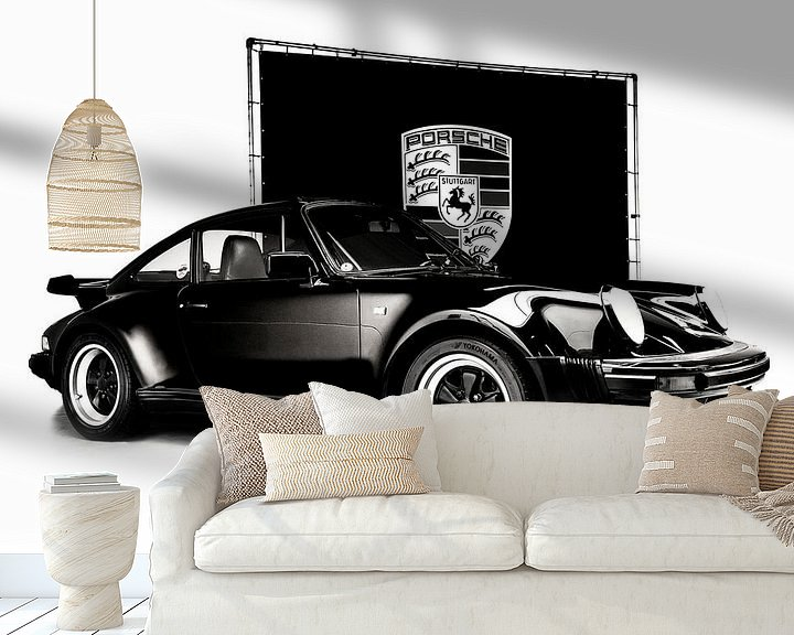 Beispiel fototapete: Porsche 964 Turbo schwarz und weiß von Anouschka Hendriks