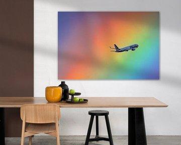 Regenboog Boeing van Martin Boschhuizen
