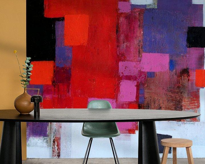 Beispiel fototapete: Abstrakt Nr.78 (Rot-Rosa) von Claudia Neubauer