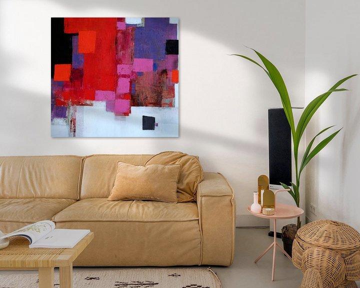 Beispiel: Abstrakt Nr.78 (Rot-Rosa) von Claudia Neubauer
