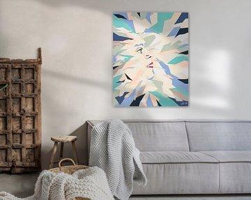 Vera number 5 | Abstrakt farbigen Gemälde von Henriëtte Mosselman