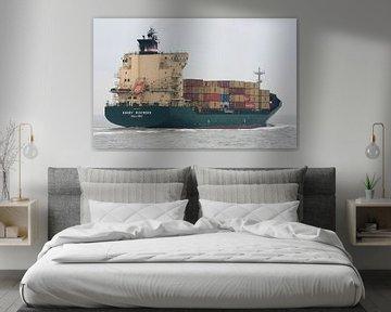 Containerschiff auf Westerschelde von MSP Canvas