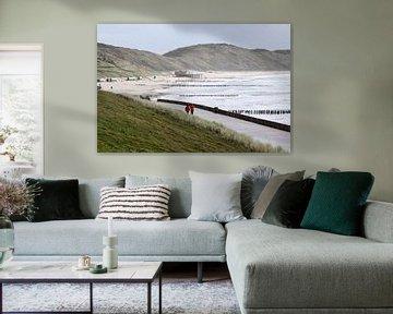 Strand Zoutelande van MSP Canvas