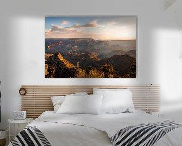 Zonsopkomst Grand Canyon - Zonneharpen en schaduwen