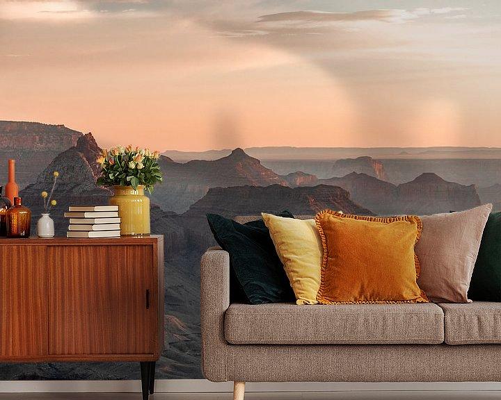 Sfeerimpressie behang: Grand Canyon - Het eerste licht van Remco Bosshard