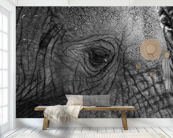 Sfeerimpressie behang: de reus van hanny bosveld