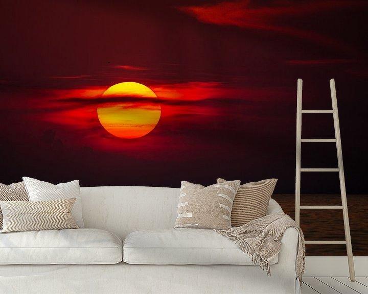 Sfeerimpressie behang: Sonnenuntergang am Meer van Manfred Schmierl
