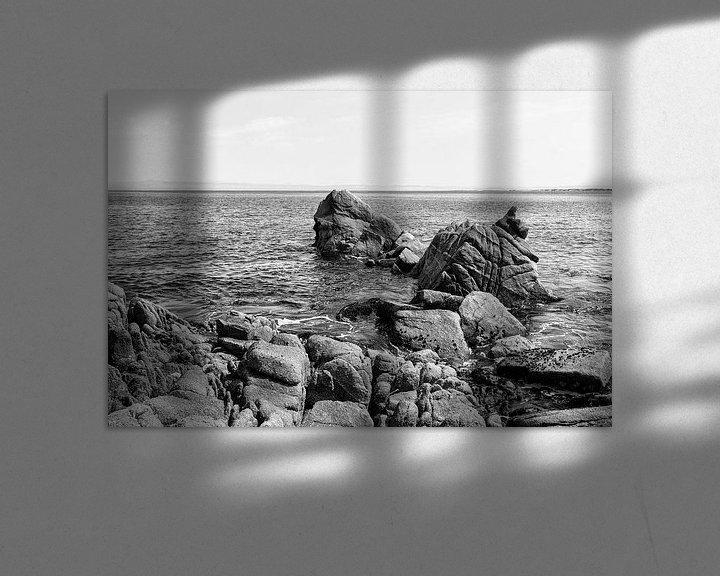 Sfeerimpressie: Rotsen in de grote Oceaan - Zwart / Wit  (C) van Remco Bosshard