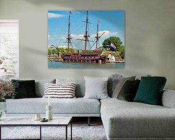 Le navire de COV'The Amsterdam'. sur Eduard Lamping