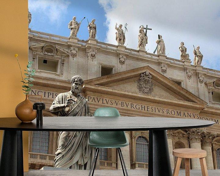 Beispiel fototapete: Petrus Vatikanstadt Rom von Berg Photostore