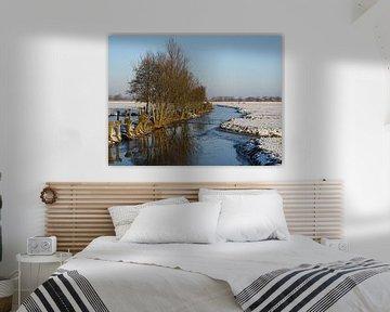 Winters landschap met sneeuw en ijs - snow landscape - Schneelandschaft van Ineke Duijzer