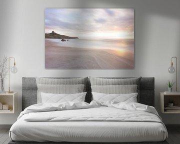 Avondlicht aan het strand van Studio voor Beeld