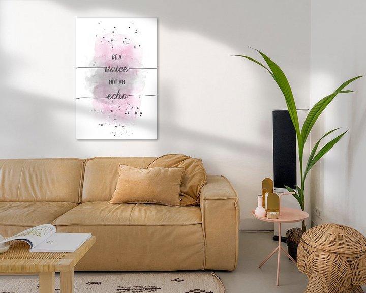 Sfeerimpressie: Be a voice not an echo    aquarel van Melanie Viola