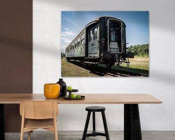 Verlaten Trein, België van Art By Dominic