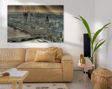 Sunshine on the Palace of Westminster London von Hans Brinkel