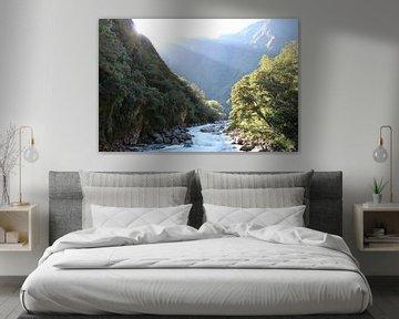 Incatrail - Rivière au Machu Picchu Pérou sur Berg Photostore