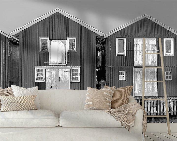 Beispiel fototapete: Hölzerne Ferienhäuser in Schweden von Mieneke Andeweg-van Rijn