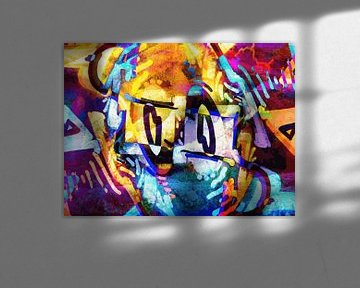 Modern, Abstract Digitaal Kunstwerk – Into Worlds I've Never Seen van Art By Dominic