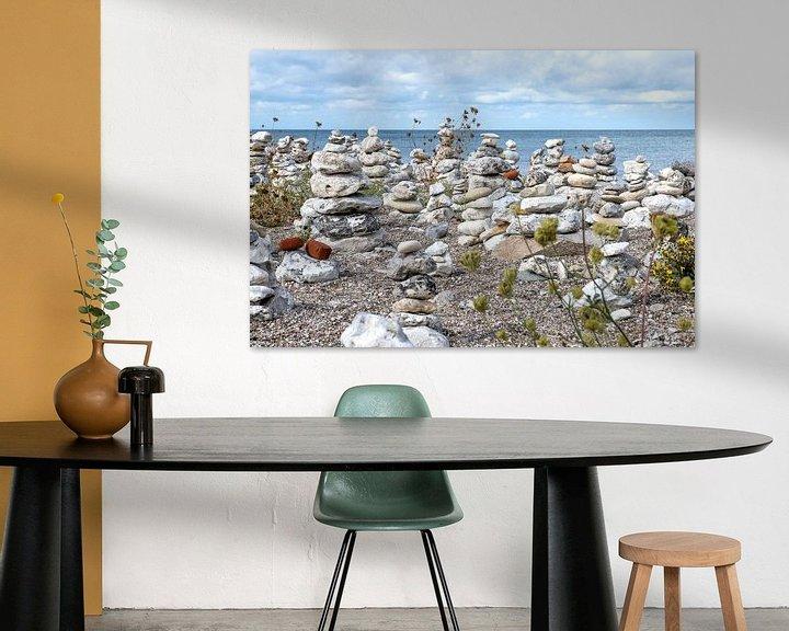 Impression: steenmannetjes aan de kust van Denemarken sur Hanneke Luit