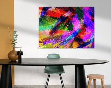 Modern, Abstract Digitaal Kunstwerk – Show Me The Way van Art By Dominic