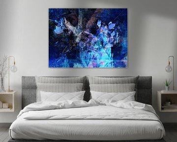 Moderne, abstrakte digitale Kunstwerke - Der Sturm der Erinnerungen von Art By Dominic