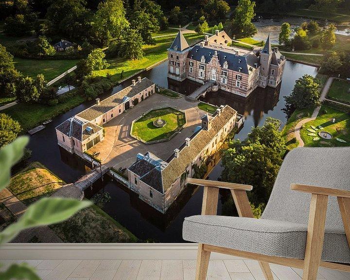 Beispiel fototapete: Schloss in den Niederlanden bei Sonnenuntergang von Cynthia Hasenbos