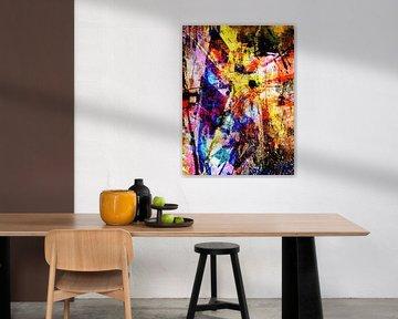 Modern, Abstract Digitaal Kunstwerk - Virtual Insanity (Part 2) van Art By Dominic