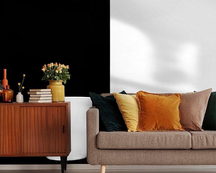 Sfeerimpressie behang: Zwart Wit van Ratna Bosch