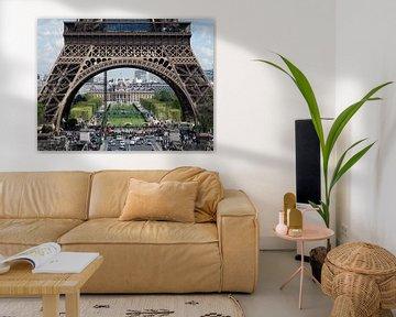 Parijs,Paris,Eiffeltoren van M  van den Hoven