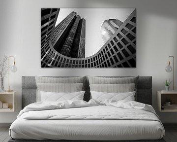 Abstrakte Gebäude in Schwarzem Weiß von Cynthia Hasenbos