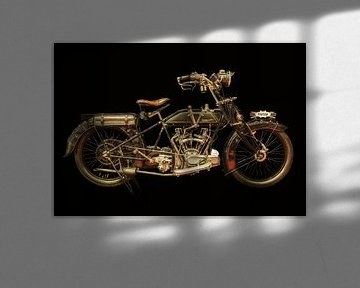 La vieille moto Martinsyde-Newman de 1919 sur Martin Bergsma