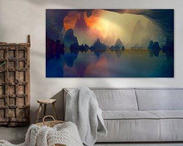 La grotte et le Lac sur Angel Estevez