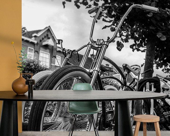 Sfeerimpressie behang: Is het een fiets of een motorfiets? :-) van Marlous en Stefan P.
