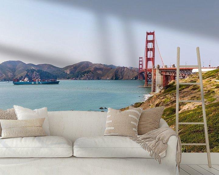 Sfeerimpressie behang: Wie is de Mol? Golden Gate Bridge - San Francisco van Remco Bosshard