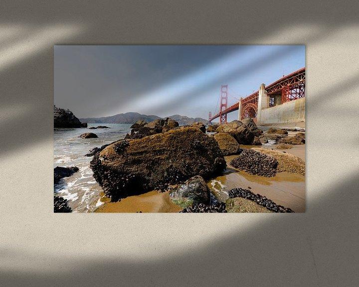 Beispiel: Gold Gate Bridge Rocks 2 - San Francisco von Remco Bosshard