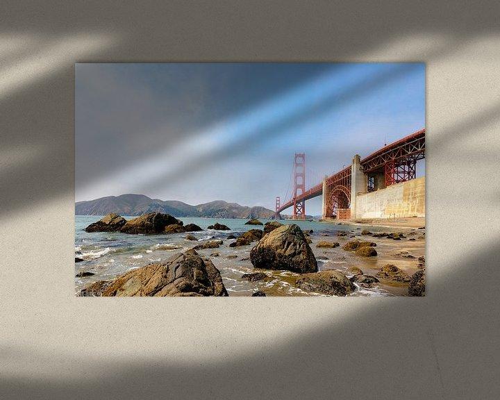 Sfeerimpressie: Gold Gate Bridge Rocks - San Francisco van Remco Bosshard