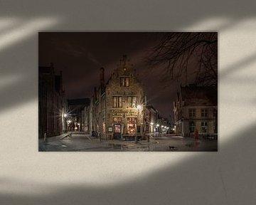 nacht in brugge na de regen van nilix fotografie