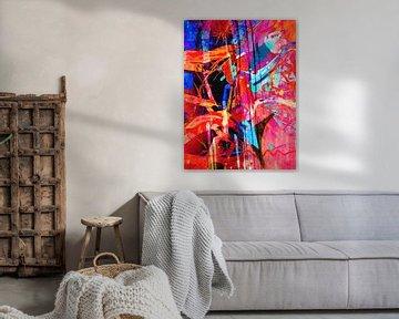 Modernes, abstraktes digitales Kunstwerk - Beautifully Broken von Art By Dominic