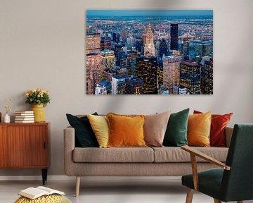 Blick auf das Chrysler Building, New York von Sascha Kilmer