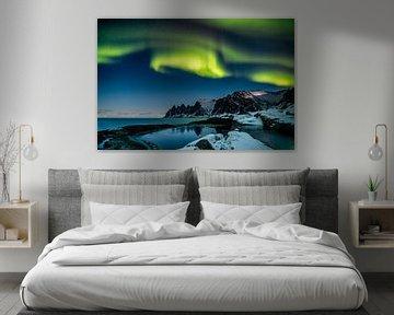 Noorderlicht in Noord-Noorwegen