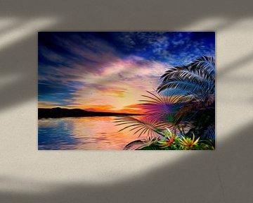 Tropisch landschap van Angel Estevez