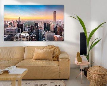 New York, Hochhäuser und Central Park von Sascha Kilmer